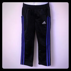 Adidas black and purple track pants - size 4T